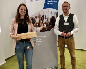 1. Personalexpertin Silvia Möller von EDAG mit Torsten Bug, Vorstandsmitglied des Marketing-Netzwerks