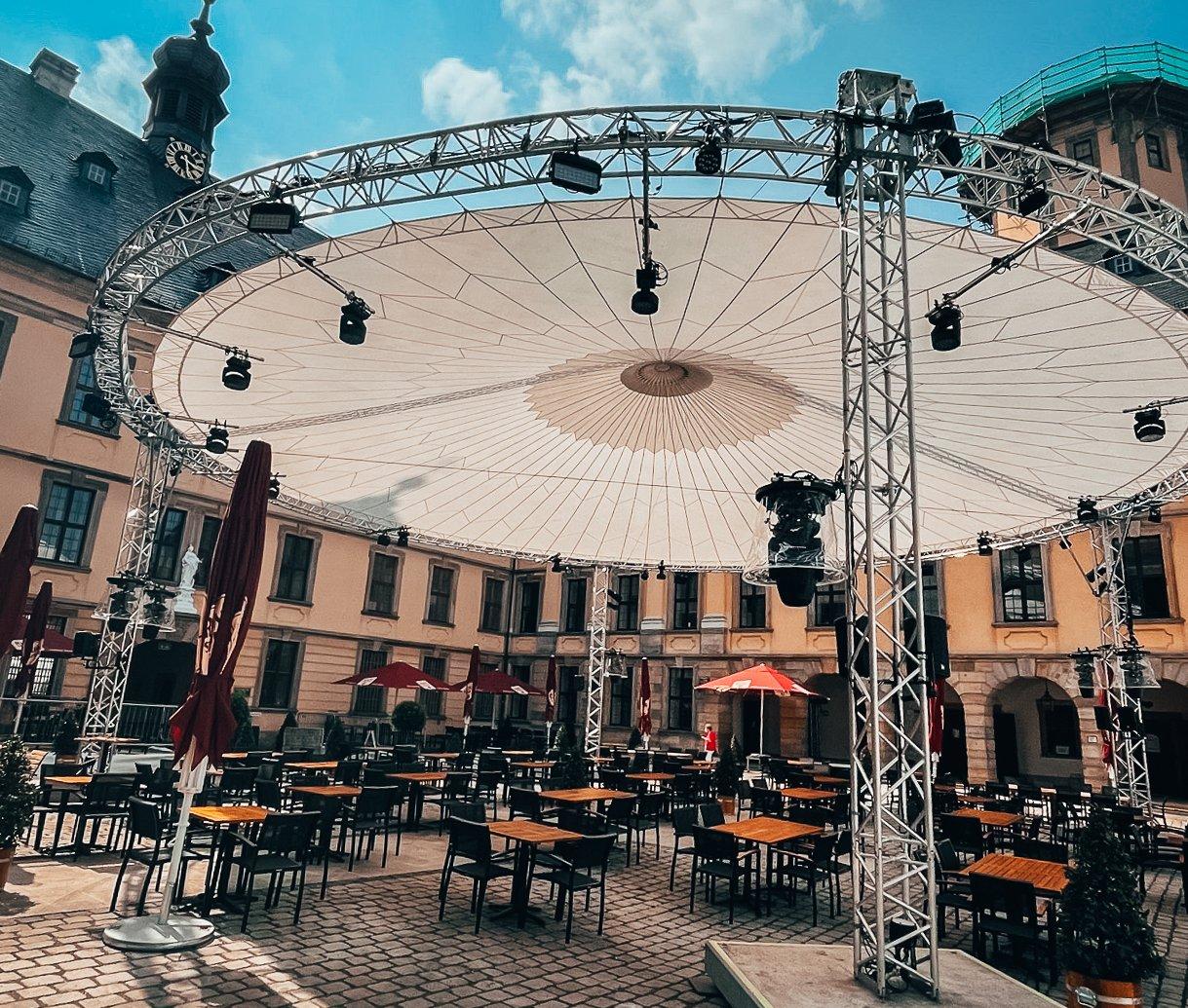 Das Event findet im Rahmen der Fuldaer Genuss'wochen im Schlosshof Fulda statt; Foto: Region Fulda GmbH