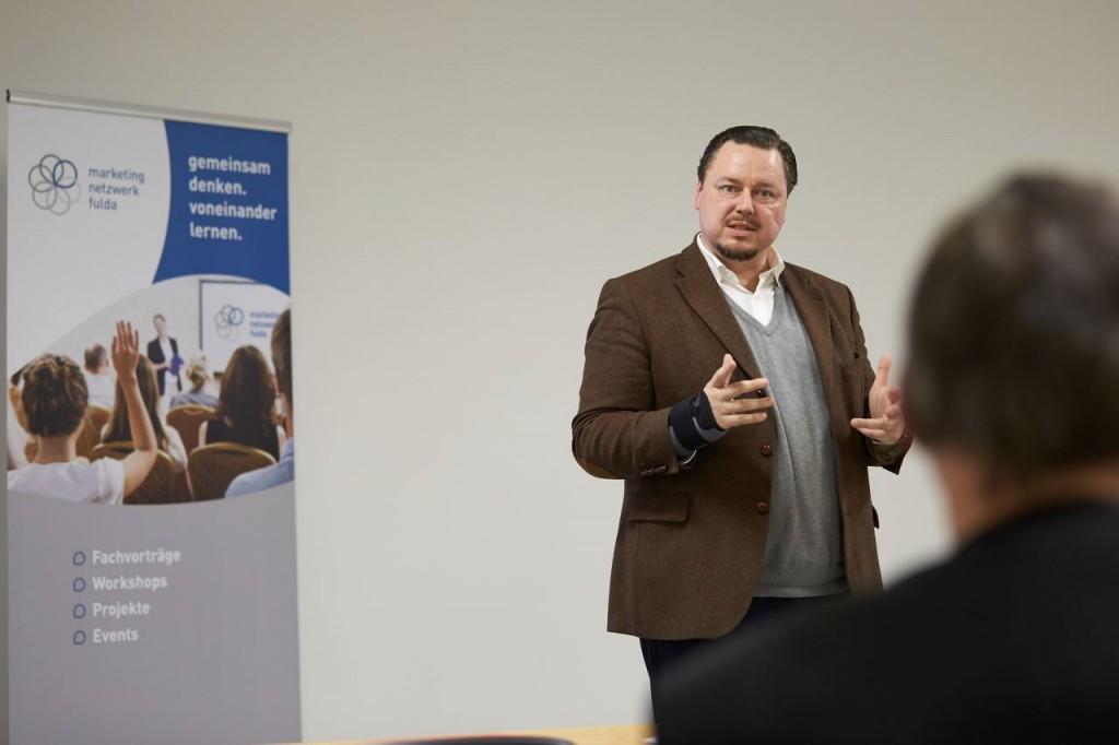 Wolfgang Kräusslich, Video-Journalist, bei seiner Präsentation (Foto: Nicole Ditzel)