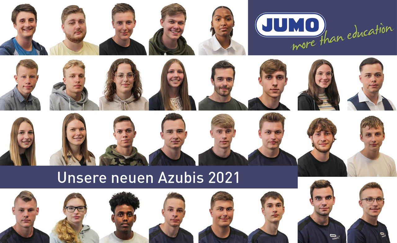 18 neue Auszubildende, 2 dual Studierende und 8 FOS-Jahrespraktikanten wurden von der JUMO-Geschäftsleitung und ihren Ausbildern am 2. August 2021 zum Start in ihren neuen Lebensabschnitt begrüßt.