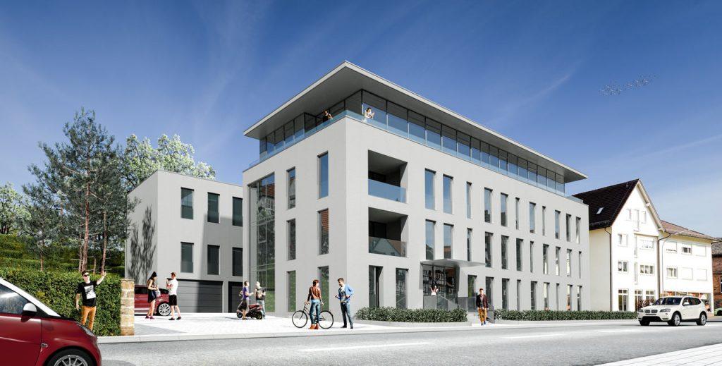 Ansicht des neuen Hochschulstandortes in Lauterbach, der im Sommer 2017 bezugsfertig sein soll.
