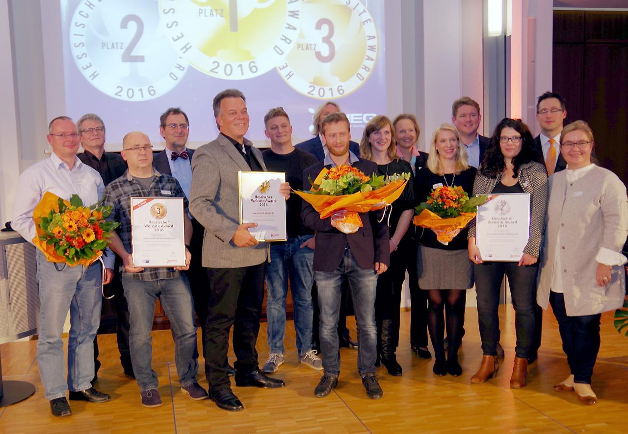 Hessischer Website Award 2016: Gruppenbild mit Jury