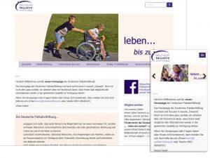 Website der Deutschen PalliativStiftung, jetzt auch mobil bedienbar