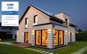 "1. Platz Musterhaus Oslo Hausbau Design Award (Kategorie ""Klassisch"")"