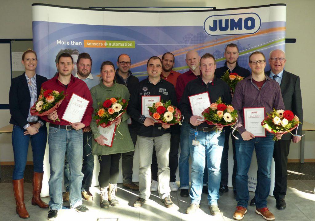 Folgende Mitarbeiterinnen und Mitarbeiter wurden geehrt: Anja Baier, Jochen Busold, Jonas Chrostek, Simon Ebert, Jonas Handwerk, Tobias Kuppelhuber, Jens Montry, Kurt Riek, Christoph Ruhnau, Christian Schiek.