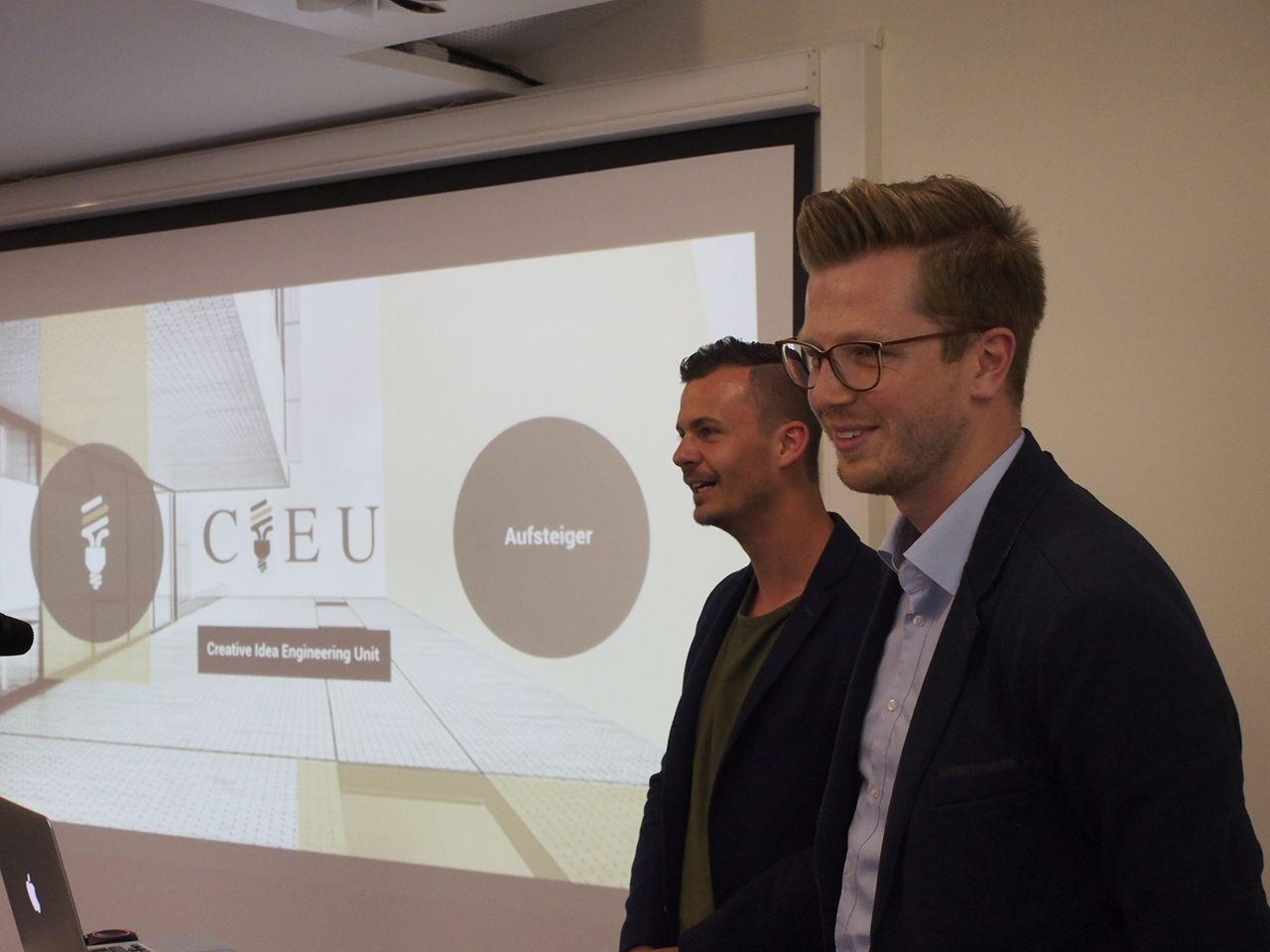 CIEU: Die selbsternannten digitalen Gipfelstürmer (von links) Kilian Jonasch und Julian Schliemann.