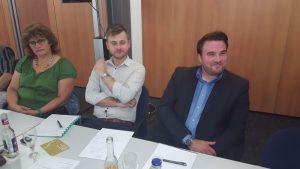 Hoffnungsvollen Gründertalente von links: Holle Redapath, Stephan Krause und Mario-Sebastian Fertig.