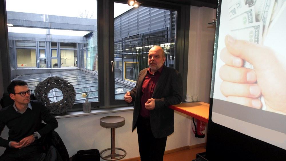 Regionalmanager Christoph Burkard begrüßte die Teilnehmer des Gründerfrühstücks