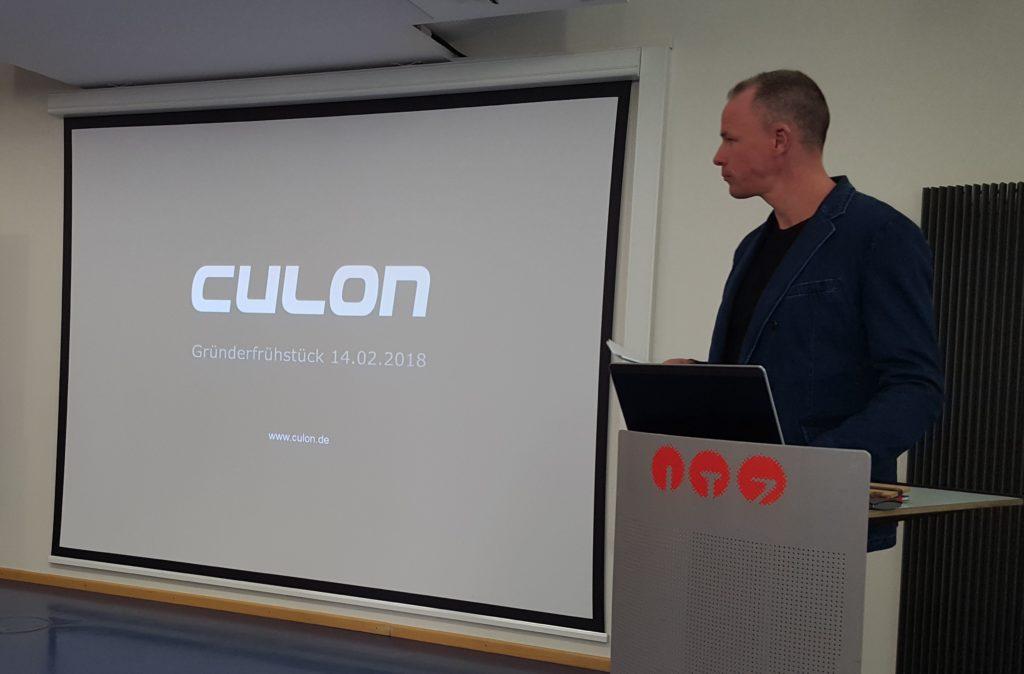 Steffen Göbel stellte sein Unternehmen Culon vor (Foto: Region Fulda)