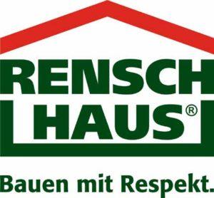 """RENSCH-HAUS Logo & Motto """"Bauen mit Respekt"""""""