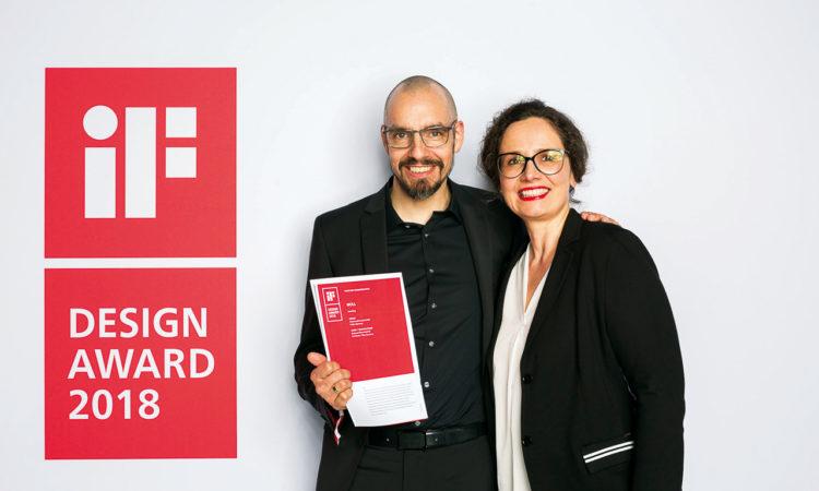 Harald Jürgen und Ingrid Fritsch bei der Preisverleihung in München