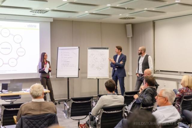 Tanja Ebbing im Gespräch mit Kai Nüchter und Nicolas Bredel (von links)