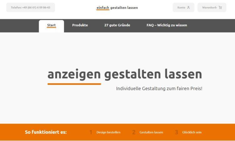 einfach-gestalten-lassen.de Startseite