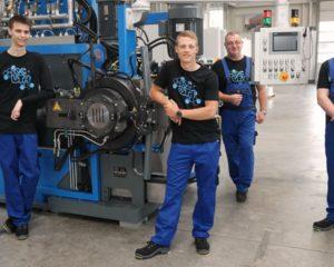 Azubis bei der UTH GmbH
