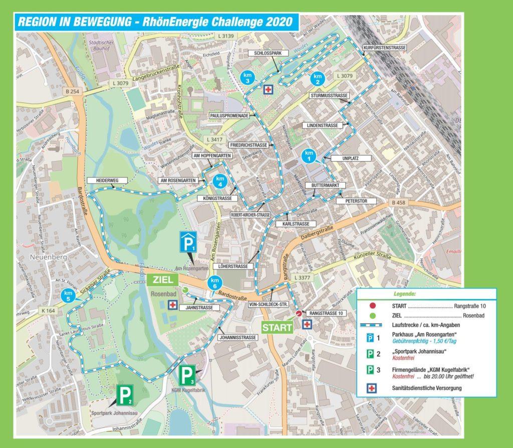 Streckenverlauf Fulda Challenge