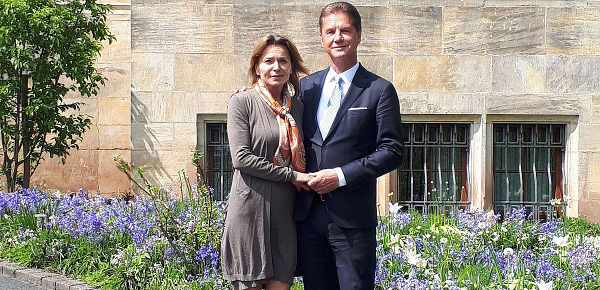 Neues Leiterehepaar Sonja und Jörg Müller im Lietz Internat Hohenwehrda